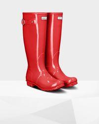 Hunter Orange Original Tall Gloss Rain Boots