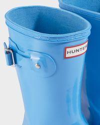 Hunter Blue Women's Original Tour Short Rain Boots