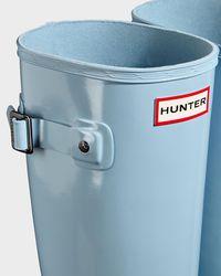Hunter Blue Refined Slim Fit Gloss Wellington Boots