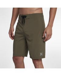 Hurley Green Phantom One & Only 20' Board Shorts for men