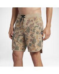 """Hurley Natural Phantom Surface 18"""" Board Shorts for men"""