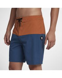 "Hurley Blue Phantom Stormsurf Pigment 18"" Board Shorts for men"