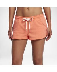 """Hurley - Orange One And Only 2"""" Fleece Shorts - Lyst"""