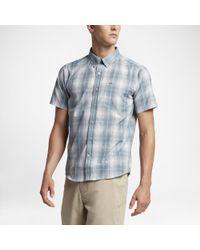 Hurley - Gray Dri-fit Steinbeck Short Sleeve Shirt for Men - Lyst