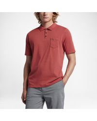 Hurley Red Dri-fit Lagos Polo Shirt for men
