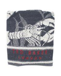 Ted Baker Black Washset Washbag & Towel Set for men