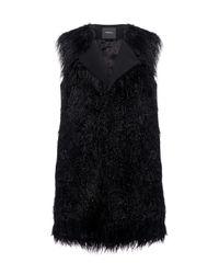 Theory   Black Mongolian Fur Vest   Lyst