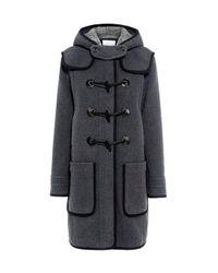 Carven | Gray Hooded Wool-blend Coat | Lyst