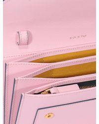 Portafoglio in saffiano con tracollina di Marni in Pink