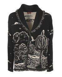 Cardigan The Shaded Canyon Night nero di Alanui in Black da Uomo