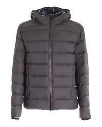 Colmar Gray Logo Patch Down Jacket In Grey for men