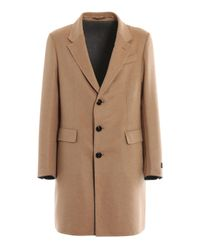 Ermenegildo Zegna Natural Wool And Cashmere Single Breasted Coat for men