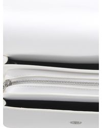 Versace Jeans White Baroque Buckle Faux Leather Bag