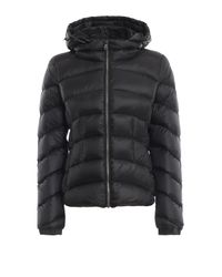 Colmar Black Nylon Puffer Jacket With Removable Hood