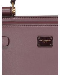 Borsa Sicily 62 piccola bordeaux di Dolce & Gabbana in Purple