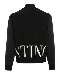 Blouson in cotone e nylon di Valentino in Black da Uomo