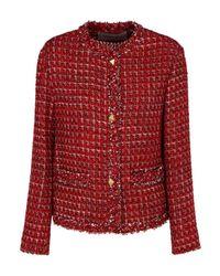 Valentino Garavani Red Tweed Wool-lurex Blend Jacket