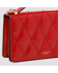 Givenchy Red Diamond Quilted Leather Gv3 Mini Bag