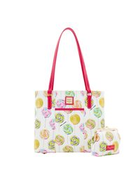 Dooney & Bourke - White Swirl Lollipop Small Lexington Large Frame Purse - Lyst