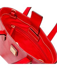 Dooney & Bourke Red Saffiano Mini Waverly