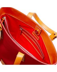 Dooney & Bourke Red Patterson Leather Hanna
