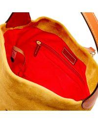 Dooney & Bourke - Multicolor Suede Small Logo Lock Shoulder Bag - Lyst