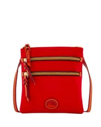 Dooney & Bourke - Red Nylon North South Triple Zip - Lyst