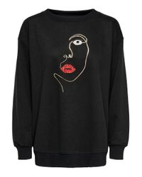 ONLY Black Bedrucktes Sweatshirt
