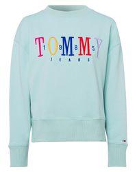 Tommy Hilfiger Blue Sweatshirt TJW MULTICOLOR EMBROIDERY CREW