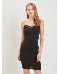 Object Black Spitzen Träger Kleid