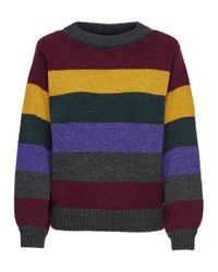 ONLY Multicolor Gestreifter Strickpullover