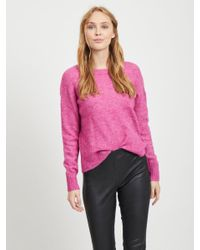 Object Pink Woll Strickpullover