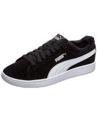 PUMA Black Sneaker Vikky V2 Fur
