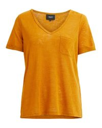 Object Brown Schlichtes T-Shirt