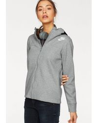 Nike Gray Kapuzensweatjacke WOMEN NSW AV15 CAPE