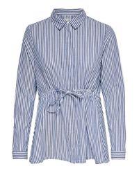 ONLY Blue Gestreiftes Hemd