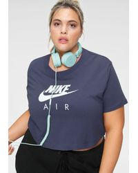 Nike Purple T-Shirt WOMEN TOP SHORTSLEEVE PLUS SIZE