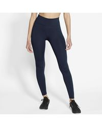 Nike Blue Funktionstights One Women