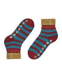 Burlington Red Socken Xmas Stripe (1 Paar)