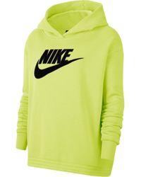 Nike Yellow Kapuzensweatshirt ICON CLASH FLECE HOODI PLUS SIZE
