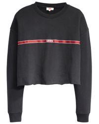 Levi's Black Sweatshirt Graphic Raw Cut Hem