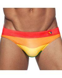 Addicted Orange Ad Rainbow Swim Brief Xs for men
