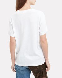 Re/done White Not Yours Graphic Tee