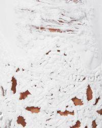 Jonathan Simkhai White Macrame Boyfriend Shorts