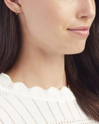Sydney Evan - Metallic Safety Pin Earring - Lyst