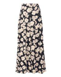 Proenza Schouler Black Floral-printed Wide Leg Pants
