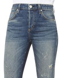 AMO - Blue Babe High-rise Dive Bar Jeans - Lyst