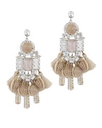 Elizabeth Cole   Multicolor Olette Crystal Pendant Earrings   Lyst