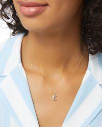 Adina Reyter - Metallic Heirloom Moon Curve Necklace - Lyst