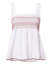 Exclusive For Intermix | White Dolly Smocked Tank | Lyst